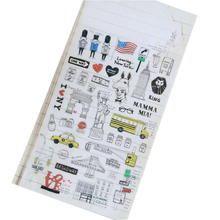 1Pcs Stickers Paper Sticker Rushed  Kids Korea Imported Pvc Decorative Sonia New York Holiday