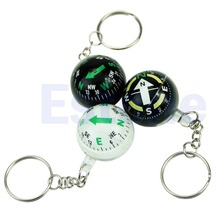 Ball Keychain Liquid Filled Compass For Hiking Camping Travel Outdoor Survival(China)