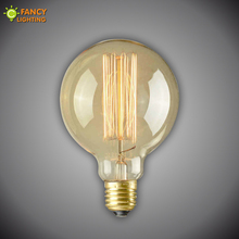 Vintage edison light bulb g95 retro lamp e27 globe incandescent bulb 110v 220v filament outdoor lighting lampada for home decor(China)