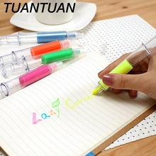 TUANTUAN Fluorescent Marker pen Luminescent pen Stationery Office School supplies Syringe Highlighter pen