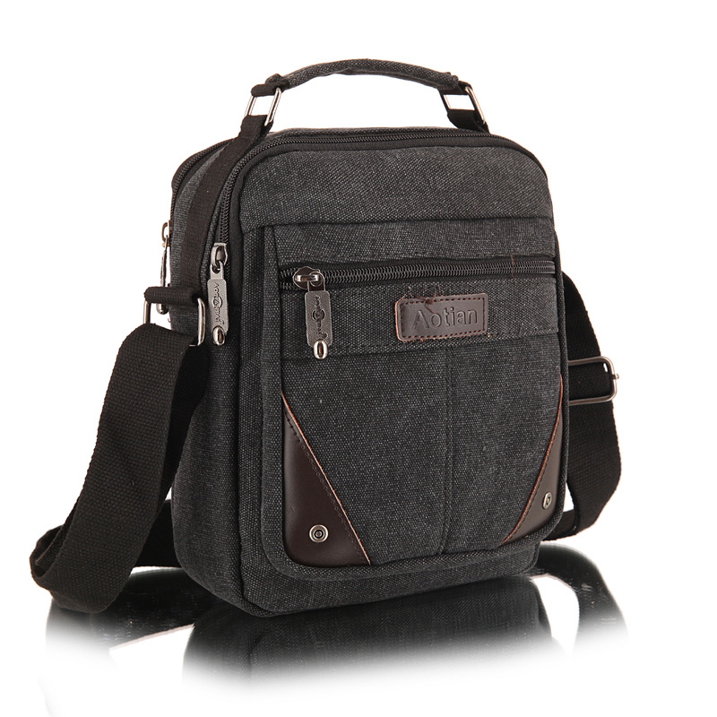 Hot Sale Men Messenger Bags Canvas Vintage Men Shoulder Crossbody Bag For Man Brown Black Small Business Travel Bag High Quality<br><br>Aliexpress
