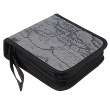 ETC Hot 40 Disc Map CD DVD Storage Holder Sleeve Case Box Wallet Bag grey(China)