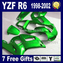 custom moto fairing kit for YAMAHA YZFR6 1998 1999 2000 2001 2002  02 00 01 99 98 YZF R6 hulls kits repair fairings kit