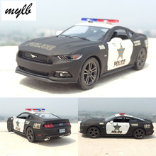 mylb New 1:38 Ford 2006 Mustang GT Police theCar Alloy Diecast Model Car Vehicle Toy Collection As Gift For Boy Children
