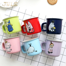 250ml Fashion Cartoon Moomin Coffee Mug Porcelain Cute Tea cup with Handgrip 250ml Milk Mugs Ceramic Thermocup 6 color for Gift