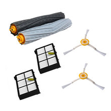 High Quality 1 set Tangle-Free Debris Extractor Brush +2 Hepa filter +2 side brush for iRobot Roomba 800 900 Series 870 880 980