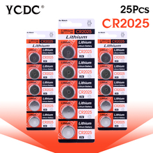 3.28 Big Promotion For watch Button battery cr2025 ecr2025 br2025 2025 kcr2025 3 volt lithium cocell battery bulk 25 pcs EE6279