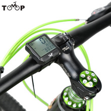 Water-Resistant Multifunction Wireless Bike Bicycle Computer LCD Backlight Backlit Cycling Speedometer Odometer Stopwatch