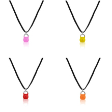 Skyrim Color Spraypaint Kettlebell charms Fitness Exercise Necklace red/orange/pink/yellow lovely pendent woman jewelry