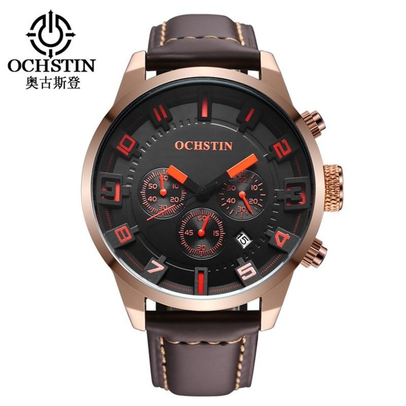 Luxury Brand Leather Waterproof Clock New casual Sport date Watches men business quartz mens wristwatches Relogio Masculino<br>
