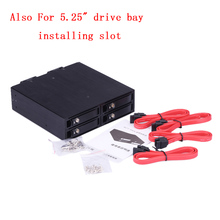 "4 Bays 2.5"" SAS/SATA III Hard Drive Enclosure HDD SSD hdd tray caddy hard disk enclosure Tool Free hard disk Box with Fans"
