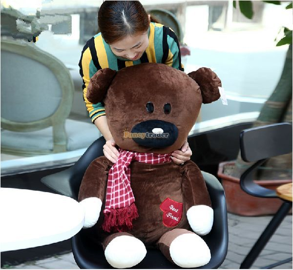 Fancytrader 39 / 100cm Cute Big Stuffed Soft Plush Huge Lovely Mr. Bean Teddy Bear Toy, Nice Baby Gift, Free Shipping FT50813<br><br>Aliexpress
