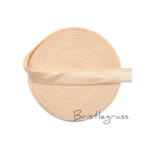 "GOYIBA 5 Yard 3/8"" 10mm Nude Spandex Satin Band Shiny Non-fold Over Elastic Headband Bra Strap Dress Lace Trim DIY Sewing Notion"