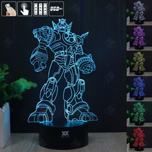 Transformers Optimus 3D Night Light RGB Changeable Mood Lamp LED Light DC 5V USB Decorative Table Lamp Get a free remote control