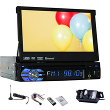 1 Din car dvd gps autoradio Stereo FM Audio SD MAP Music HeadUnit Radio AMP RDS Receiver Digital TV GPS Car DVD Video + Camera