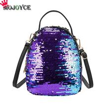 Buy Women Sequins Backpack Female Fashion Bling Bling Children Backpacks Mini Bags Ladies Casual Shoulder Bags Teenager Girls for $11.91 in AliExpress store