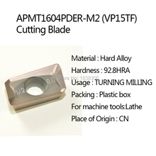 1Lot APMT1604PDER-M2 VP15TF  cutting tool turning tip for Cutting Blade MILLING CUTTER for Lathe Tool Accessories