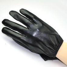 Men's Smart Touch Screen Genuine Lambskin Leather Driving Gloves Silk Lined Black M L XL New(China)