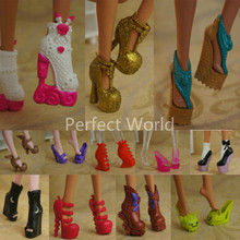 Hotsell quality Original 10 pairs shoes for The monster high Doll Party kids birthday gifts