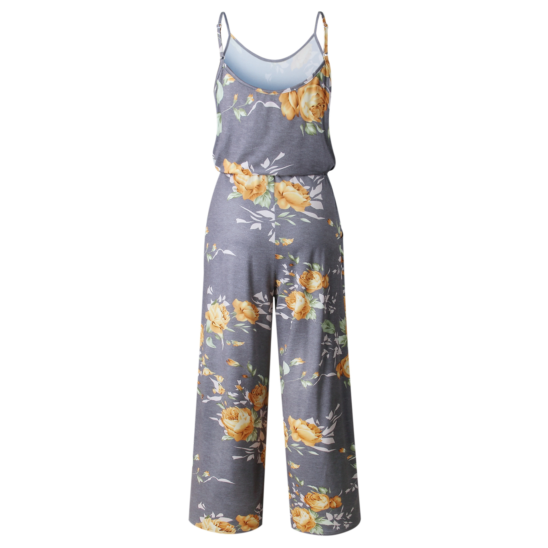 Spaghetti Strap Jumpsuit Women 2018 Summer Long Pants Floral Print Rompers Beach Casual Jumpsuits Sleeveless Sashes Playsuits 8