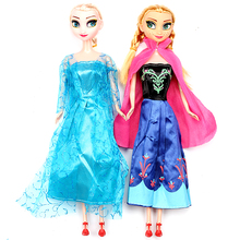 Frozen 29cm Princess Anna Elsa Dolls Snow Queen Children Girls Toys Birthday Christmas Gifts For Kids Cartoon Doll(China)