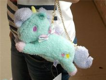 "10"" Sanrio Little Twin Stars Blue Unicorn Bag Charm Animal Doll Plush Stuffed Toy NWT(China)"