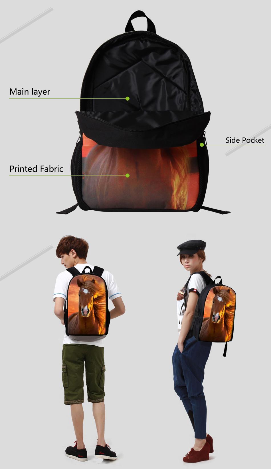 3 school bags for girls
