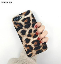 Wixcen High Quality Pu Leather Leopard Hard Case for Iphone 6 6s 6plus 7 7plus 8 X Soft TPU Back Cover Case Free Shipping(China)