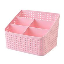 1PC Home Living Room Storage Box Remote Control Basket Bedroom Kitchen Desktop Grid Cosmetics Box Makeup Organizer 3