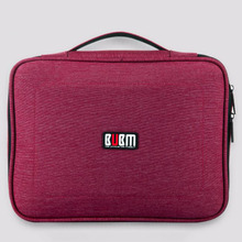 BUBM Brand New Waterproof Charging Cable Earphone Holder storage Bag Handheld USB Flash Electronics Accessories Organizer Case