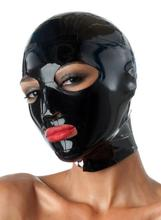 Buy Latex Mask Rubber Hood Open Eyes Mouth Latex Fetish Hood Mesh Eyes