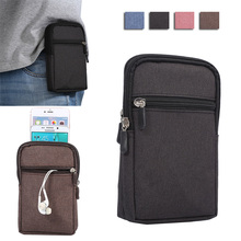 4 colors Denim Leather Carry Belt Clip Pouch Waist Purse Case Cover For Samsung Galaxy Ace 4 Lite/G313 G313H/Ace 4 Neo/G318H