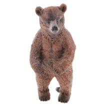 New Arrvals Realistic Standing Brown Bear Wild Animal Toy Model Action Figure Kids Toy Children's Birthday Gift Home Decoration(China)