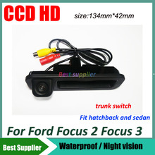 CCD HD Car rear view backup Camera For Ford Focus 2012 2013 2014 Car parking rearview reverse camera For focus 2 focus 3