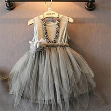 2017 New Trendy baby girl summer clothes Flower Girls Kids Toddler Baby Princess Party Pageant Wedding Tulle Tutu Dresses