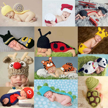 MOLIXINYU2017 New Creative Cartoon Animal Baby Knitted Hat Clothes Newborn Boy Girl Soft And Comfortable Photography Props(China)