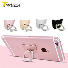 Twitch Luxury 360 Degree Metal Finger Ring Holder Mobile Phone Holder Finger Stand Holder For iPhone 7 For Samsung Xiaomi Tablet