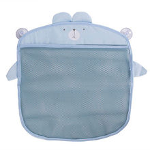 Sucker Wall Hanging Storage Bag Baby kids Bath Net Bags Basket Organizer