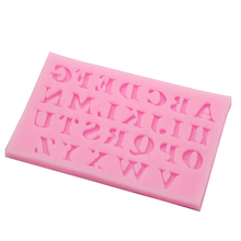 New 26 English Letters Shape Fondant 3D Molds Silicone Mold Candle Moulds Sugar Craft Tools Chocolate Moulds Bake Ware