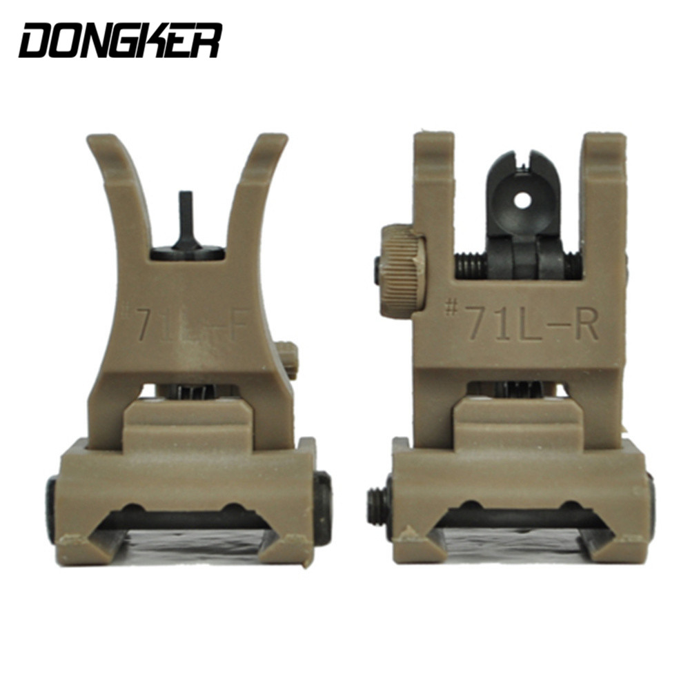 Portable Ultralight Flip-Up Tactical Front&Rear Sight Set M4/M16&AR Rifle Gun Foldable Aiming Device Fit For Standard 20mm Rail(China (Mainland))