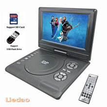 Liedao 9.8 inch Portable DVD EVD VCD SVCD CD Player With Game and radio Function  TV AV Support SD MS MMC Card