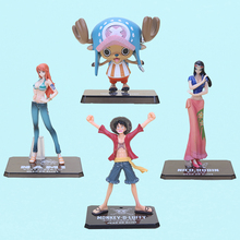 "6"" anime One Piece Monkey D Luffy Nami Chopper Nico After 2 Years the new world two years later PVC Action Figure Model Toy"
