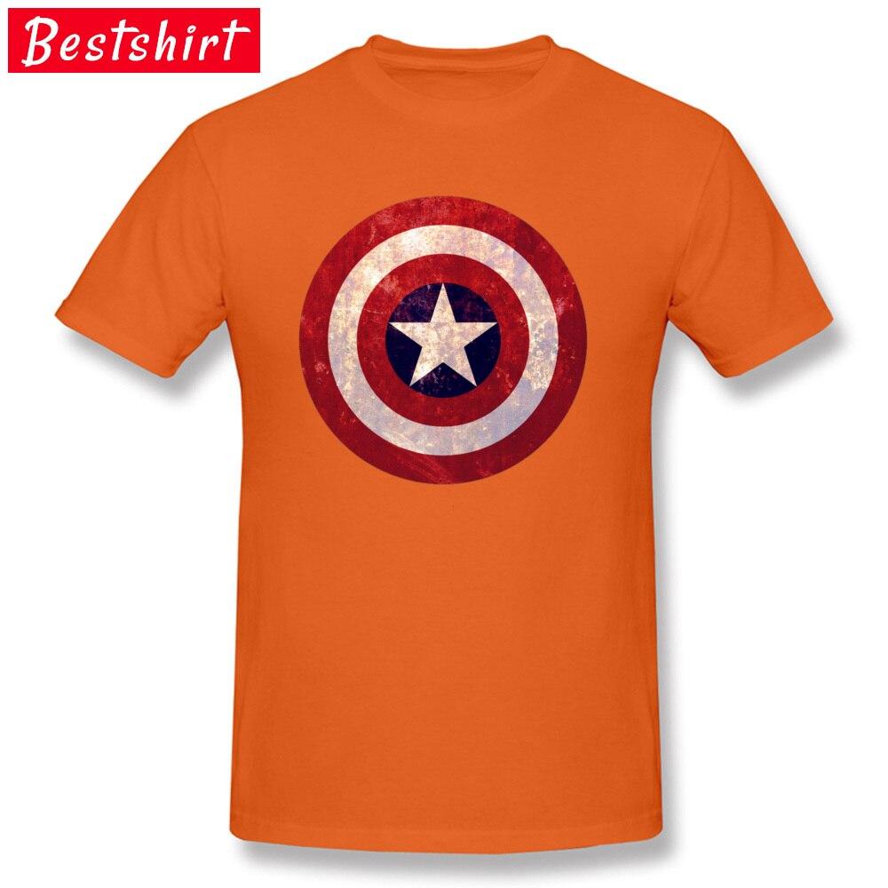 Captain america C Pure Cotton Tshirts for Men Short Sleeve T Shirt 2018 Fashion April FOOL DAY O-Neck Top T-shirts Fitness Tight Captain america C orange