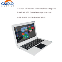 14inch Laptop PC Computer Notebook Windows10 Qual Core In-tel Atom X5-Z8350 4G 64G EMMC Wifi Webcam PC Tablet(China)
