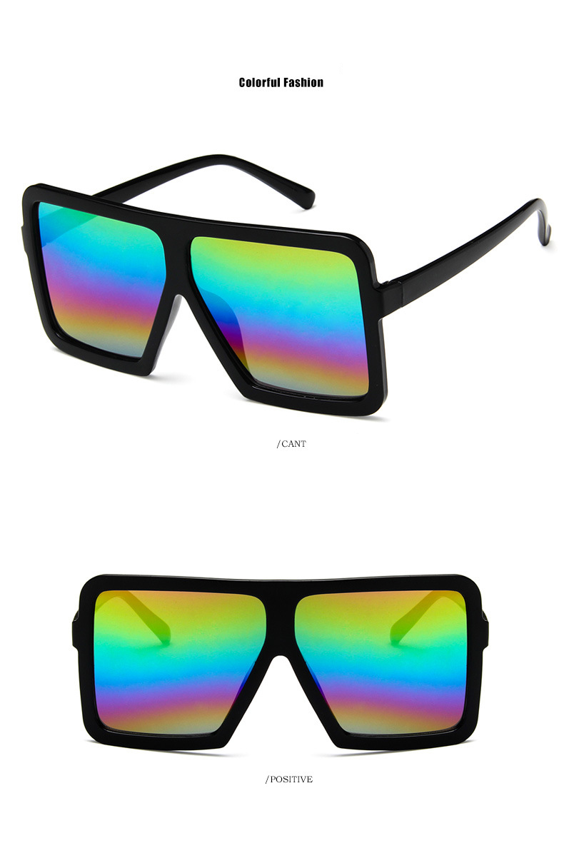 60494787b8ce 2018 Newest super large frame sunglasses women men hip-hop personality  sunglasses popular Rap style sunglasses with glasses box ...