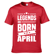 2017 Novelty Legends Are Born In April Funny Birthday Gift Men's Cotton T Shirt Man Cool Tops Short Sleeve Tees(China)