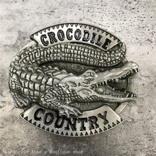 Retail High quality Beast 3D Crocodile belt Buckle Men and Woman Jeans Accessories Letters Buckles Gift Fit 4cm width belt(China)