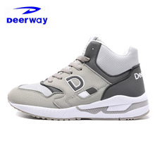 Deerway Winter Jordan Shoes For Women2017 Outdoor Plus Fluff Keep Warm Height Increasing Anti-Slippery Brand Sneakers Snow Shoes(China)