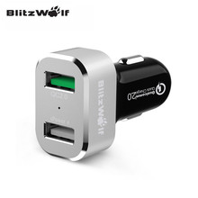 BlitzWolf BW-C6 30W Quick Charge Certified 2.0 Two Port USB Car Charger for Samsung