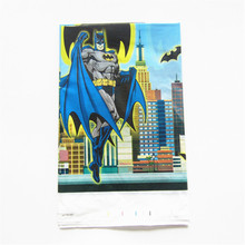 180*108cm Cartoon batman Plastic Tablecloth for kids happy birthday party disposable plastic tablecover baby shower supplies